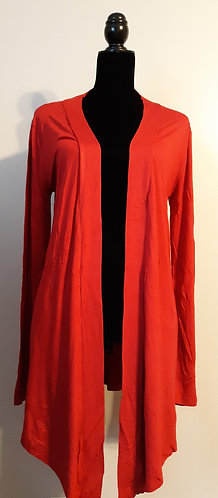 Drape Front Cardigan – Red LG