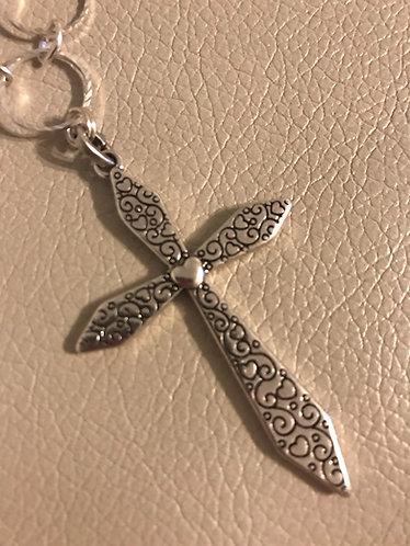 Heart Cross Pendant Necklace