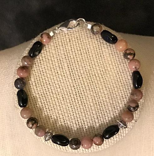 Semi-Precious Rhodonite Bracelet Set