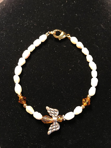Angel Wing Bracelet - November Birthstone