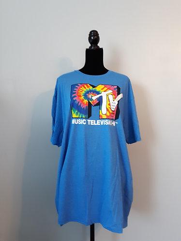 MTV Tee - Blue Heather - Men's 2X