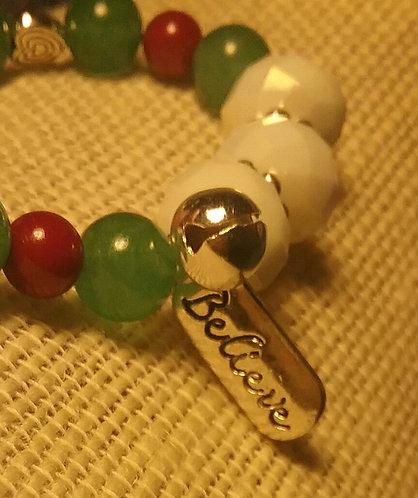 """Believe"" Christmas Bracelet"