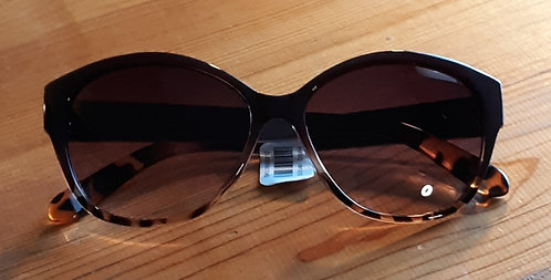 Brown Cheetah Trim Sunglasses