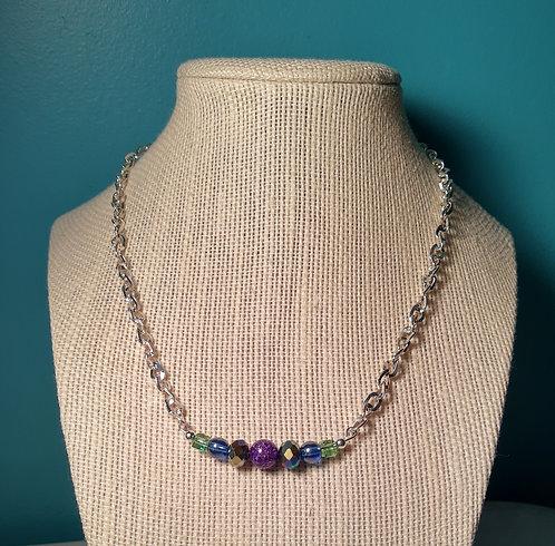 Jewel Tone Chain Necklace