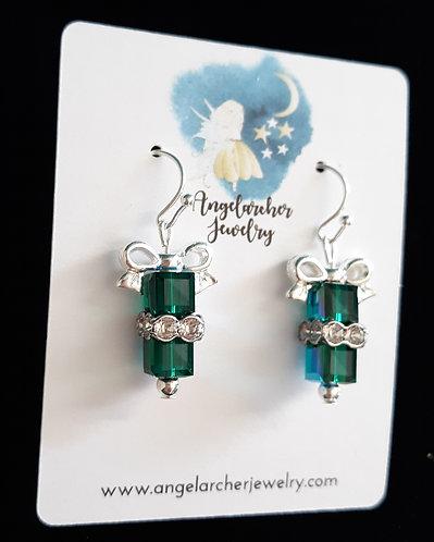 Christmas Gift Earrings - Green