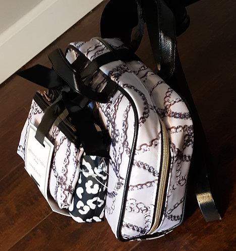 Cosmetic Travel Bag Set - Chain Print