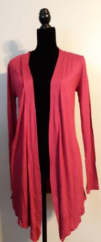 Drape Front Cardigan – Rose Pink MED