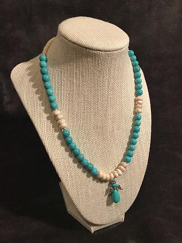 Turquoise Stone Angel Necklace