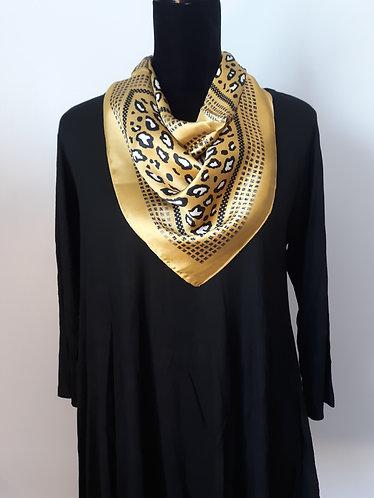Gold Leopard Print Scarf