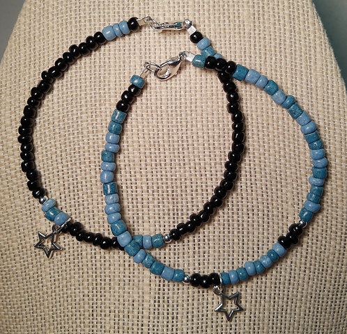 Buddy Bracelets - STAR (Blue & Black)