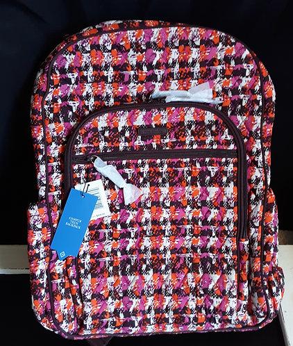 Vera Backpack - Pink Houndstooth Tweed