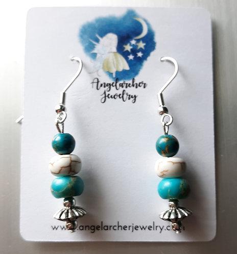 Turquoise Imperial Jasper Earrings