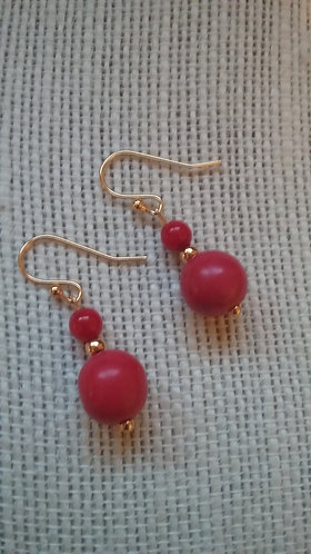 Red Howlite Mini Earrings