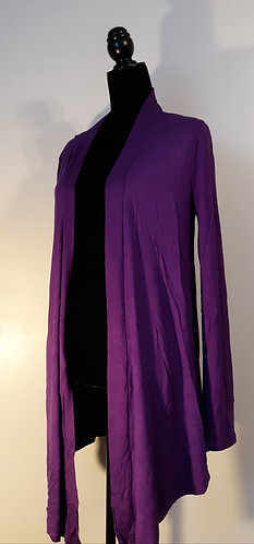 Drape Front Cardigan – Purple XL