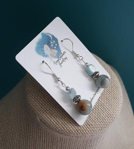 Amazonite Nugget Earrings