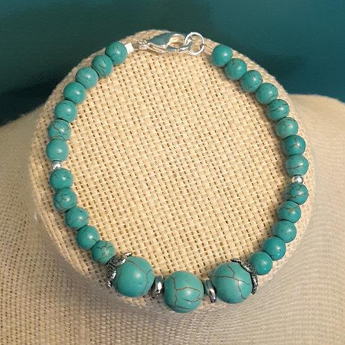 """The Wendy"" Turquoise Howlite Bracelet Set"