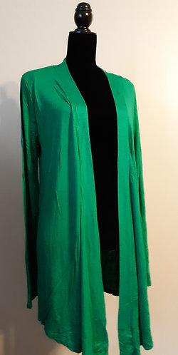 Drape Front Cardigan – Green XL