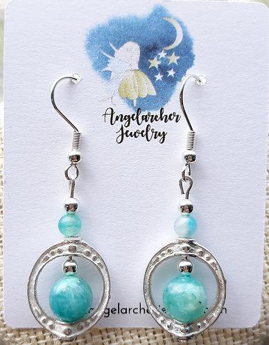 Light Blue Amazonite Earrings