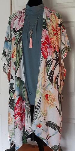 Palm Fringe Kimono
