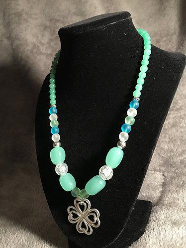 Four-Leaf Clover Heart Necklace