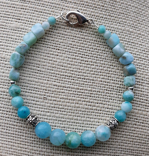 Light Blue Amazonite Nugget Bracelet