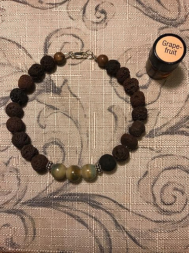 Brown Lava Bead Diffuser Bracelet Set