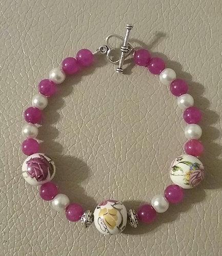 Floral Bead Bracelet