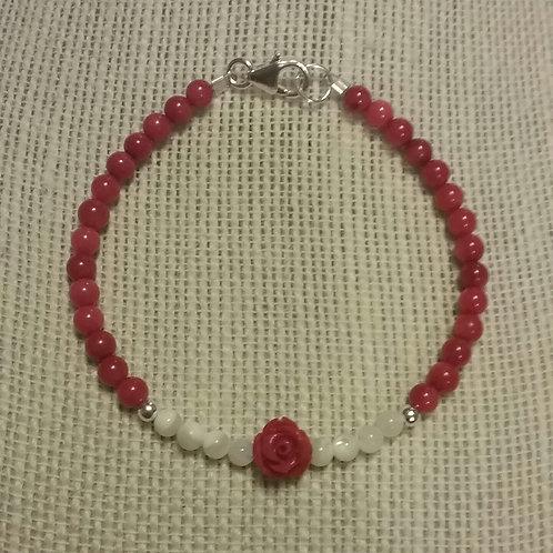 Mini Red Rose Bracelet