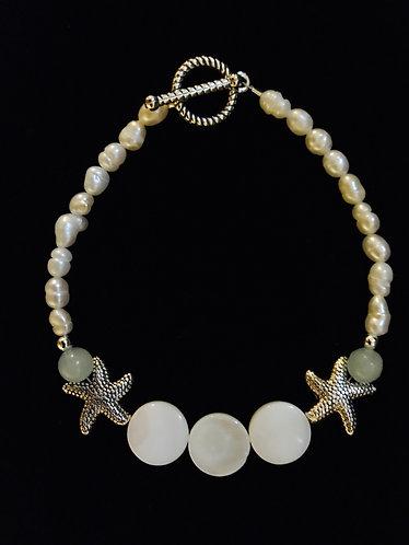 Freshwater Pearl Starfish Bracelet