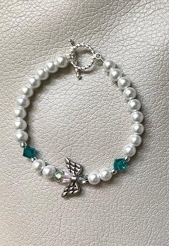 Angel Wing Bracelet - December Birthstone