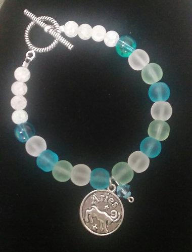 Zodiac & Birthstone Bracelet - Aries/March