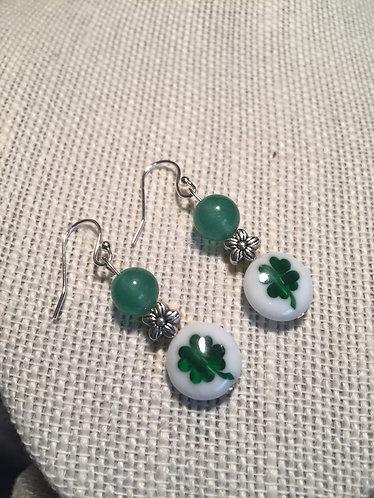 Four-Leaf Clover Flower Earrings