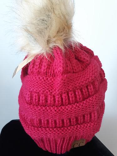C. C. Pom Beanie – Hot Pink