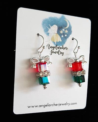 Christmas Gift Earrings - Red & Green