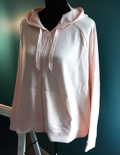 Soft Pink Long-Sleeve Hoodie