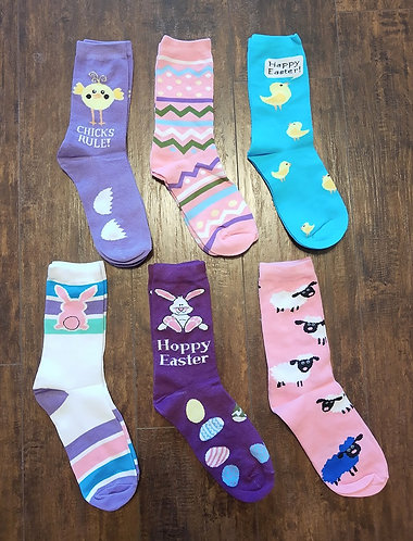 Easter Fun Socks - Crew Length