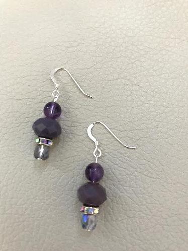 Semi-precious Amethyst Earrings