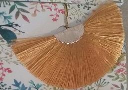 Fan Fringe Earrings – Gold w/Goldtone