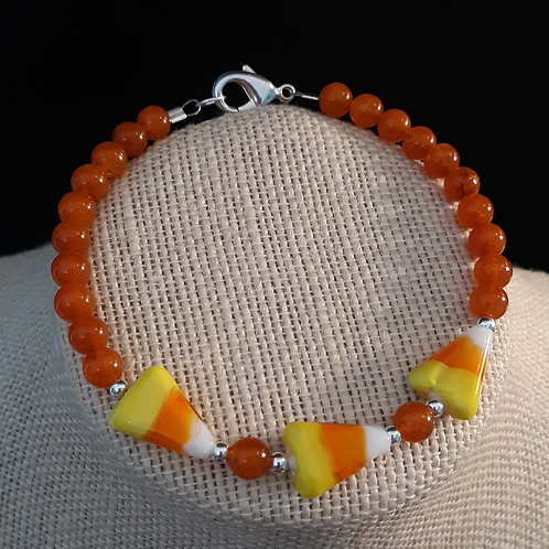 Candy Corn Bracelet w/Orange Quartzite