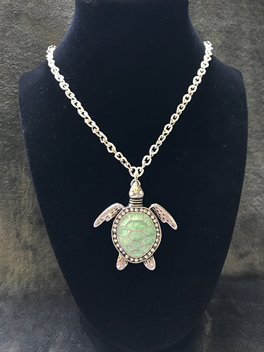 Turtle Pendant Chain Necklace