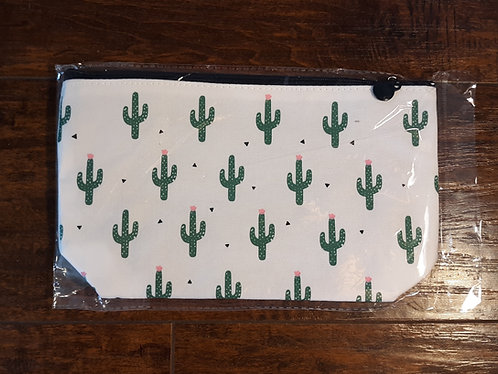 Assorted Cactus Zipper Cosmetic Bag (Large)