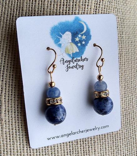 Sodalite & Blue Aventurine Earrings