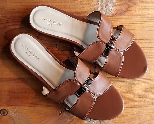 Camel Flat Sandals