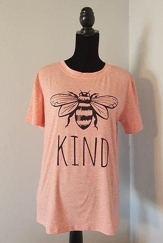 BEE KIND Tee - Heathered Peach