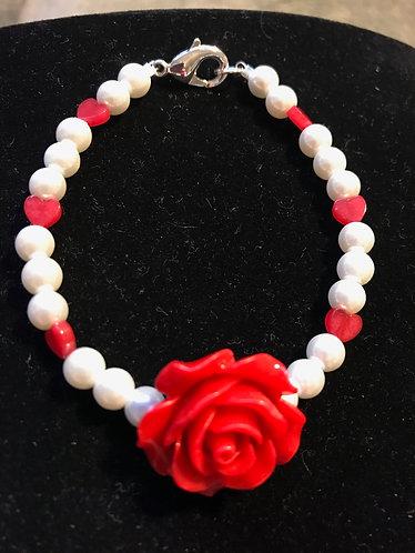Rose & Hearts Bracelet
