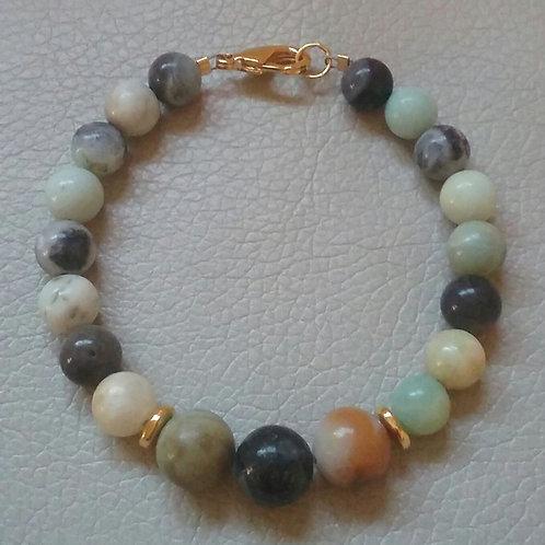 Earthtone Simulated Amazonite Bracelet