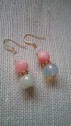 """Be Mine"" Pink Stone Earrings"