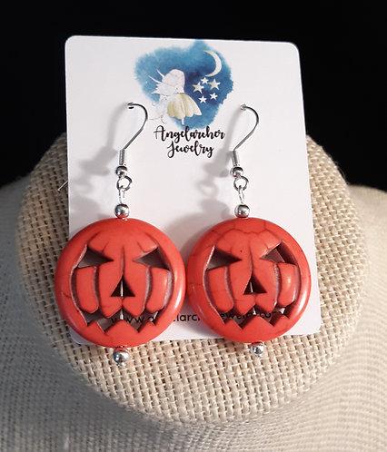 Large Pumpkin Earrings