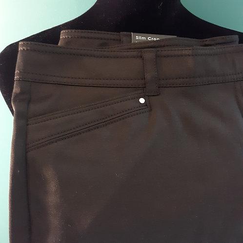 Zac & Rachel Dressy Capri Pants – Black Sheen