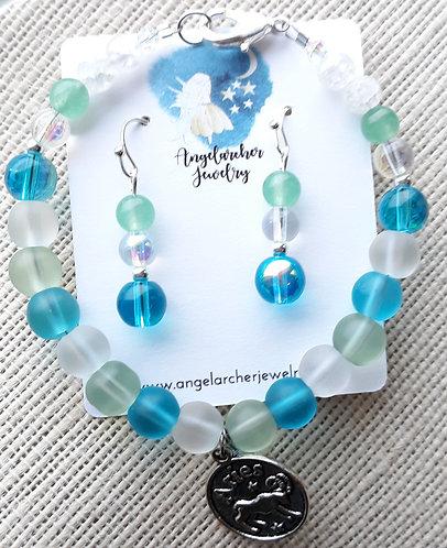 Customized Zodiac Birthstone Bracelet Set